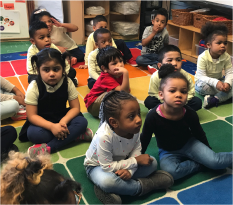Kids Listening to Book Reading